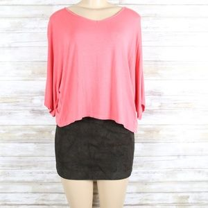 Paper Tee Pink Open Bow Back sz Med